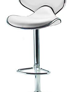 Planet White Kitchen Breakfast Bar Stool Padded Seat Height Adjustable With Back