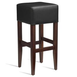 Emerald Kitchen Bar Stool - Dark Walnut Frame With Padded Seat - Fully Assembled