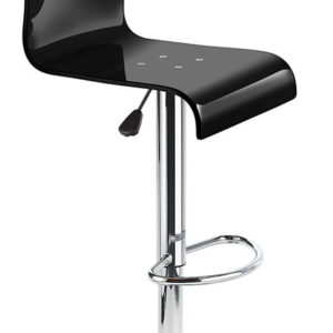 Snazzy Adjustable Acrylic Bar Stool Black