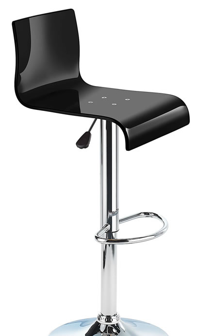 Tremendous Snazzy Adjustable Acrylic Bar Stool Black Customarchery Wood Chair Design Ideas Customarcherynet