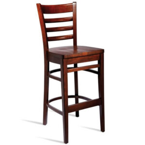 Shelly Solid Beech Kitchen Bar Stool Fixed Height Hardwood Seat - Fully Assembled