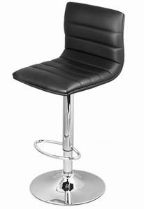Vista Breakfast Bar Stool Black Padded Seat Height Adjustable