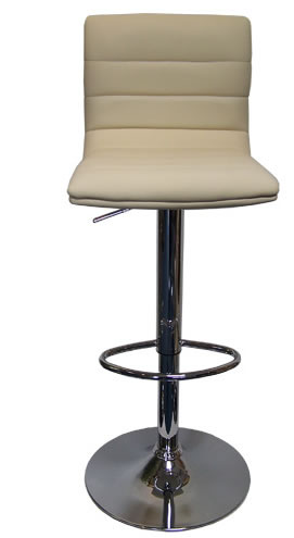 new product 67c26 75f9b Amazon Brown Bar Stool Shiny Chrome Faux Leather Seat Height ...