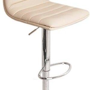 Vista Breakfast Bar Stool Cream Padded Seat Height Adjustable