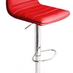 Vista Breakfast Bar Stool Red Padded Seat Height Adjustable