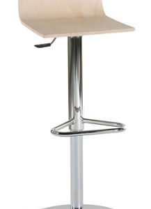 Jezzi Bar Stool - Wooden Seat