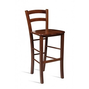 Pichetto Solid Beech Fixed Height Bar Stool With Rich Colour