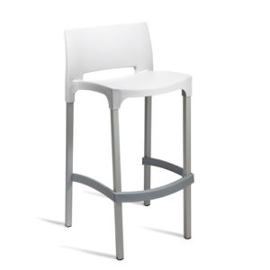 Kirk Stacking Kitchen Breakfast Bar Stool - Fixed Height Fully Assembled