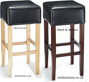 Felix Wood Bar Stool With Padded