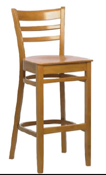 Oswell Beech Or Walnut Wood Frame Bar Stool Fully Assembled