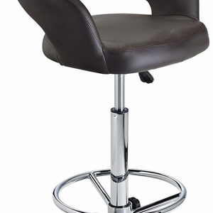 Acquan Bar Stool With Padded Adjustable Swivel Seat - Brown