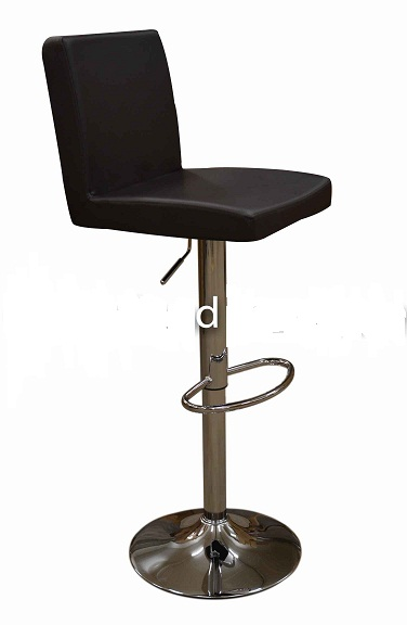 Siam Brown Kitchen Breakfast Bar Stool Padded Seat And Back Height Adjustable