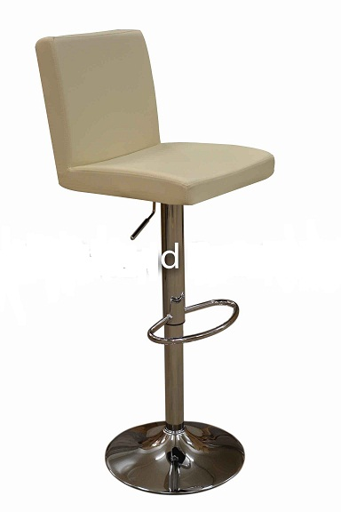 Siam Cream Kitchen Breakfast Bar Stool Padded Seat And Back Height Adjustable