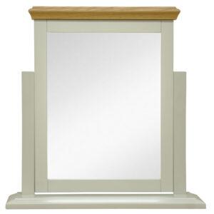 Preston Truffle Cream Painted Finish Trinket Mirror Vanity Mirror For Dressing Table