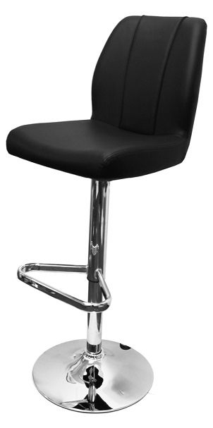 Bryant Adjustable Bar Stool With Faux Leather Padded Seat And Backrest
