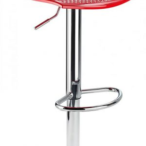 Blazar Red Modern Kitchen Bar Stool Height Adjustable