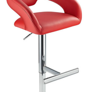 Mapon Kitchen Breakfast Bar Stool T Bar Footrest Red Padded Seat Height Adjustable