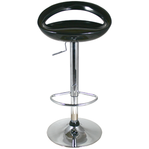 Black Bar Stool Swivel Retro Moon Bar Stool