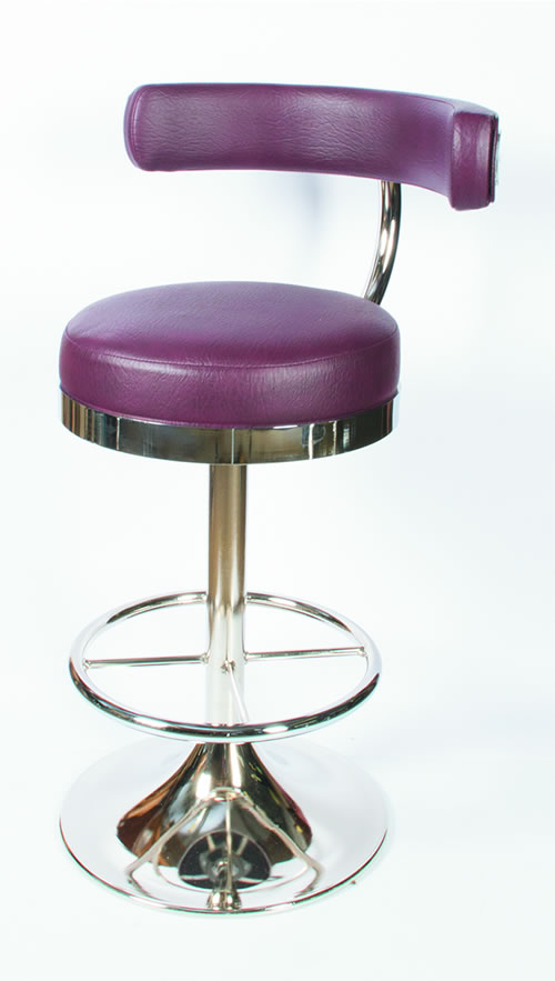 Raka Quality Retro Swivel Kitchen Breakfast Bar Stool Chrome With Footrest And Backrest Fully Assembled