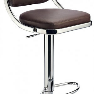 Romano Bar Stool - Brown Padded Seat