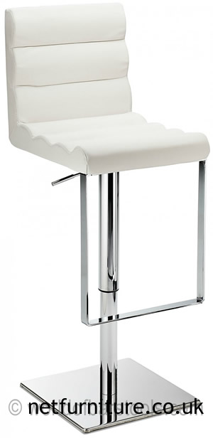 Regal Bar Stool Padded Seat Height Adjustable Chrome Frame And Footrest