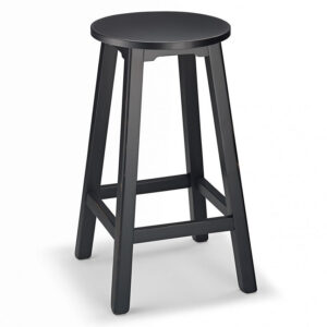 Salop Wooden Kitchen Bar Stool Fixed Height Fully Assembled 5 Colours
