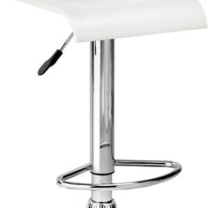 Santos Bar Stool White Faux Leather Adjustable Swivel