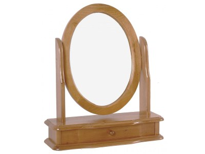 Saka Vanity Mirror Round - Pine Frame
