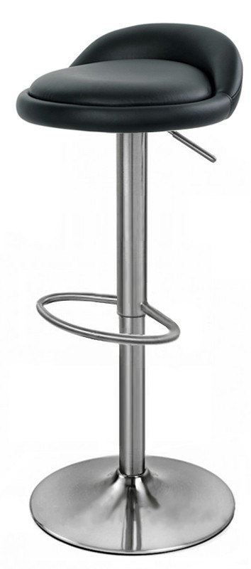 Alexis Brushed Bar Stool - Stainless Steel. Adjustable Height