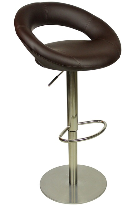 Soren Deluxe Kitchen Breakfast Bar Stool Padded Seat Weighted Base Various Colours Brushed Frame