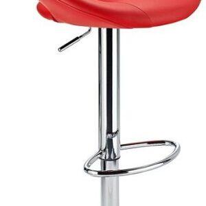 Serene Red Padded Kitchen Breakfast Bar Stool Height Adjustable