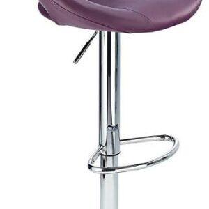 Serene Purple Padded Kitchen Breakfast Bar Stool Height Adjustable