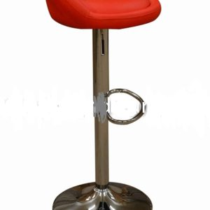 Timeless Red Faux Leather Kitchen Chrome Bar Stool Floor Protector