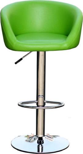 Tuscany Green Bar Stool Swivel Height Adjustable Padded Seat
