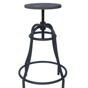 Temzon Kitchen Bar Stool Retro Vintage Rustic Industrial Stool