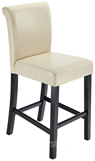 Sienna Walnut Frame Kitchen Bar Stool Cream Padded Seat And Back