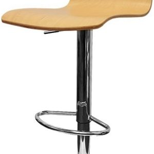 Unica Adjustable Wooden Bar Stool With 360 Degree Swivel