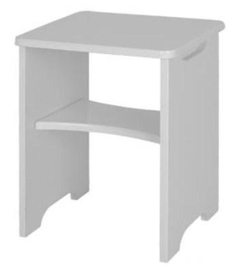 Viz Alp White Gloss Dressing Table Stool Uk Made Quality Fully Pre Assembled