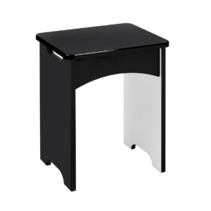 Viz Ori Black Gloss Dressing Table Stool Uk Made Quality Fully Pre Assembled