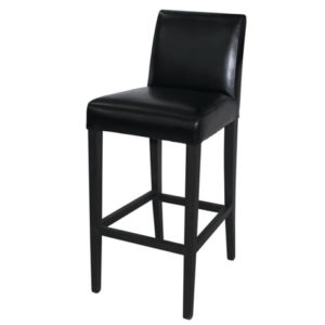 Rose Bar Stools Wooden Frame Black Or Brown Padded Seat And Padded Back Fully Assembled