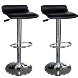 Zest Faux Leather Black Swivel Bar Stool Height Adjustable