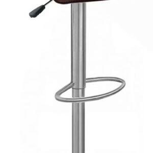 Zest Brushed Stainless Steel Padded Adjustable Bar Stool