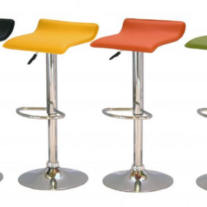 Pair Of Zest Kitchen Breakfast Bar Stool Stylish Modern Padded Seat In Orange