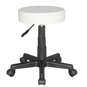 Susan Therapist Bar Stool Height Adjustable Low Stool On Wheels Castors - Arctic White