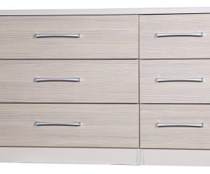 Fiona Quality Bedroom 3 Drawer Double Chest Cream And Champagne Uk Made Quality Fully Pre Assembled
