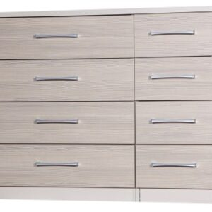 Fiona Quality Large Double Chest 4+4 Drawers Cream And Champagne Uk Made Fully Pre Assembled