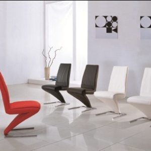 4 Lassa Dining Chairs Z Shaped Padded Seat