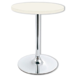Coltine Chrome Bistro Kitchen Round White Kitchen Dining Table