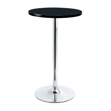 Coltine Tall Kitchen Bar Poseur Black Bar Table Round Top