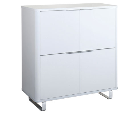 Maudin 4 Drawer White Storage / Bookcase Unit